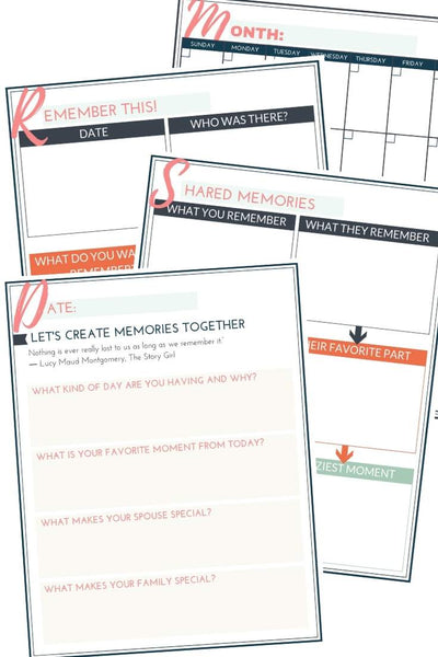 Editable and printable family journal writing prompts