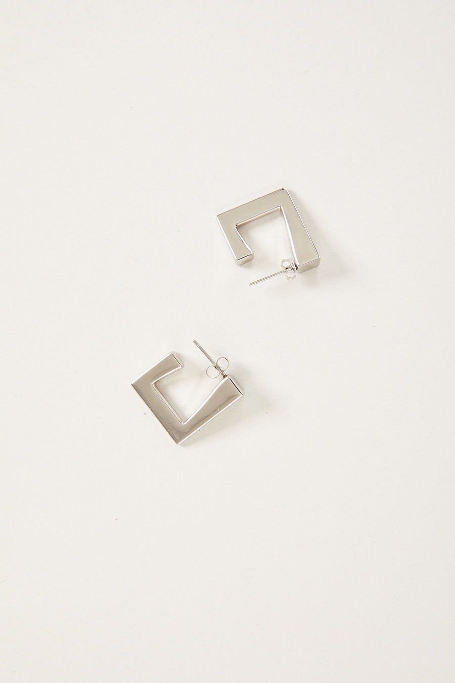 Triangle Earring in Silver