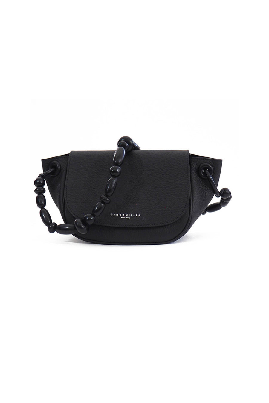 S821 Bend Bag in Black - Bead Strap