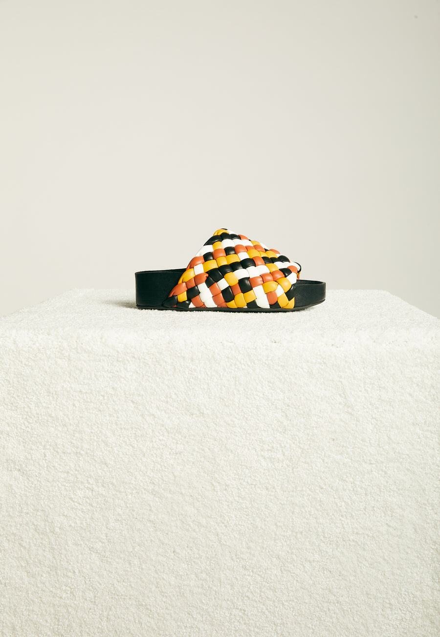 Vegan Woven Dip Slide in Multi Color