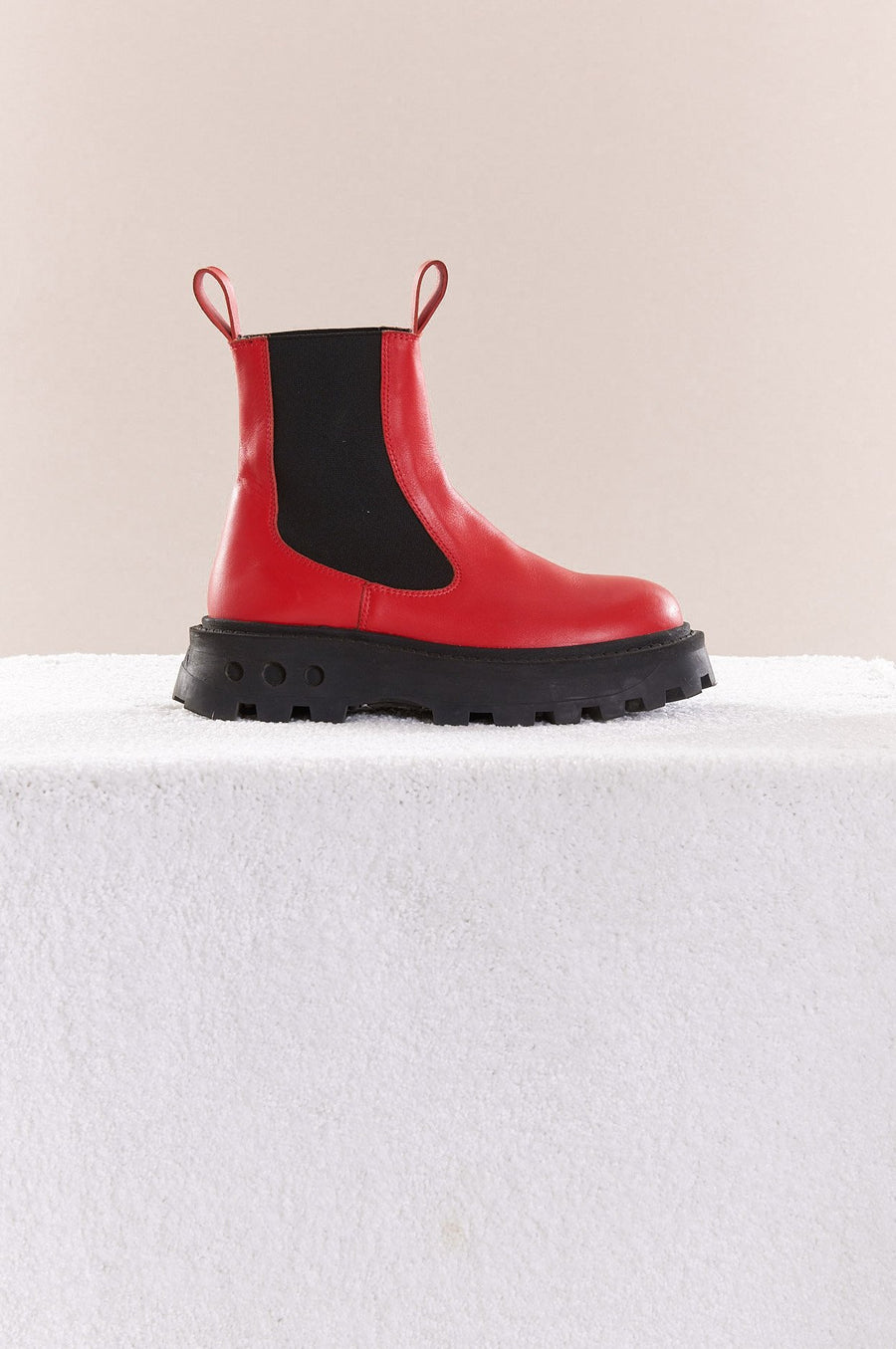 Scrambler Boot in Retro Red
