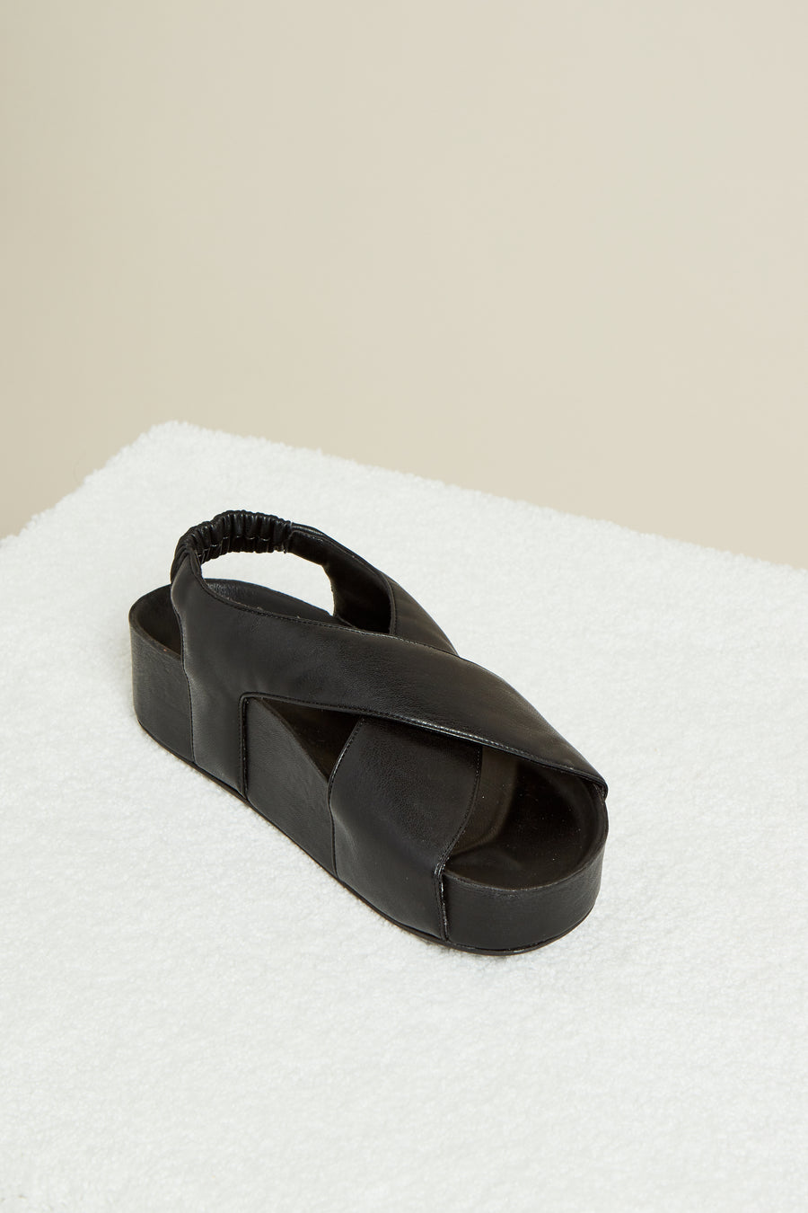 Vegan Cross Dip Slide in Black