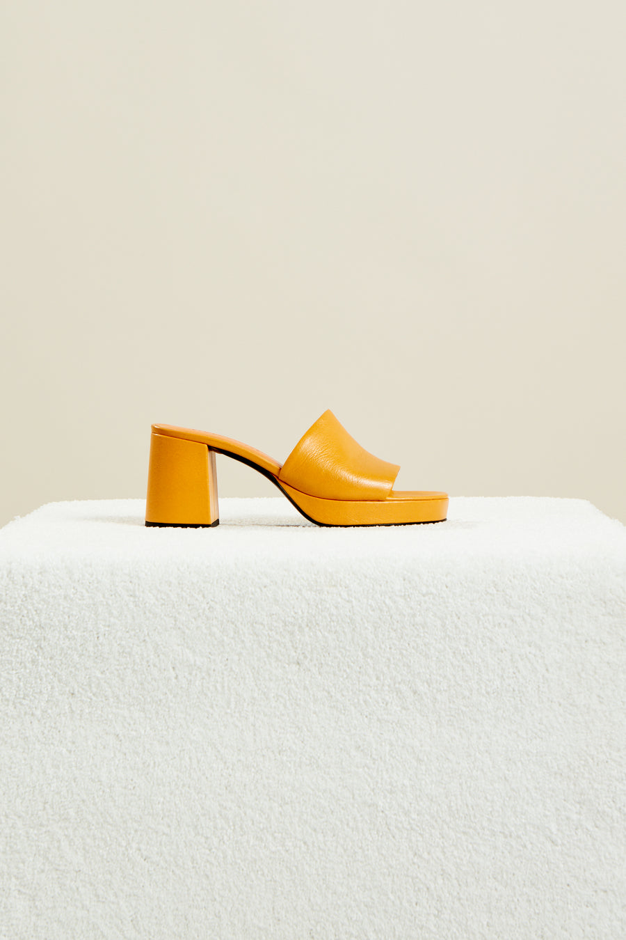 Stopper Heel in Papaya