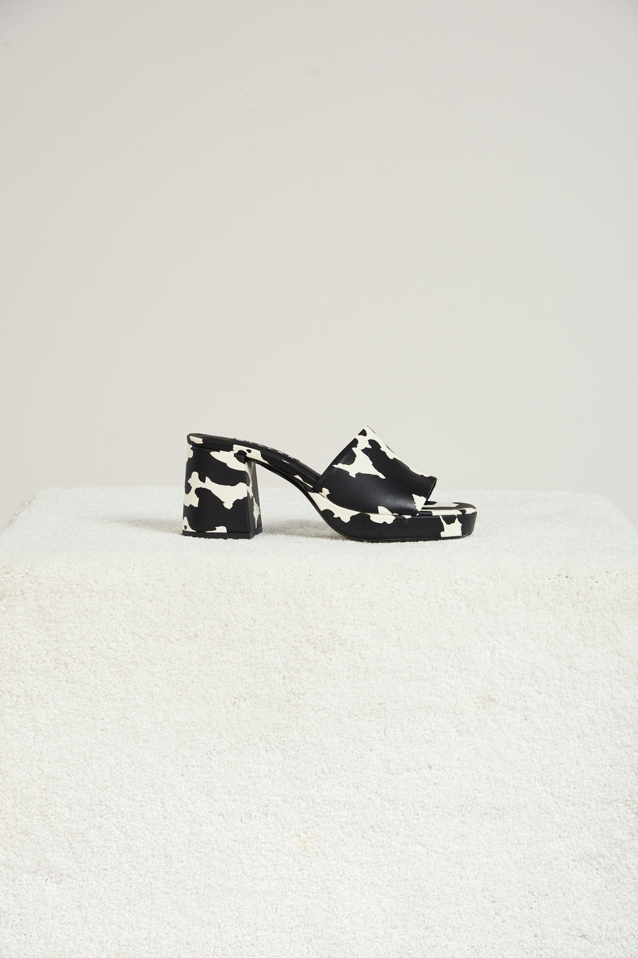 Stopper Heel In Cow Print