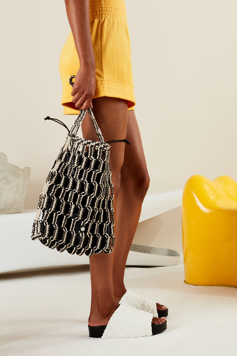 Tiki Tote in Black + Cliff