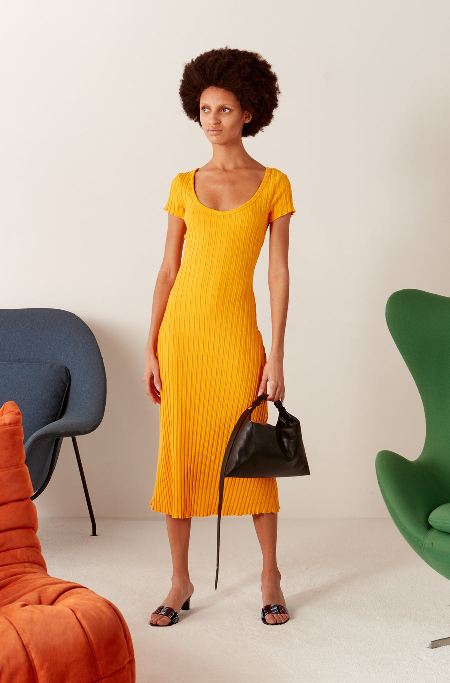 Andros Dress in Sunset Orange