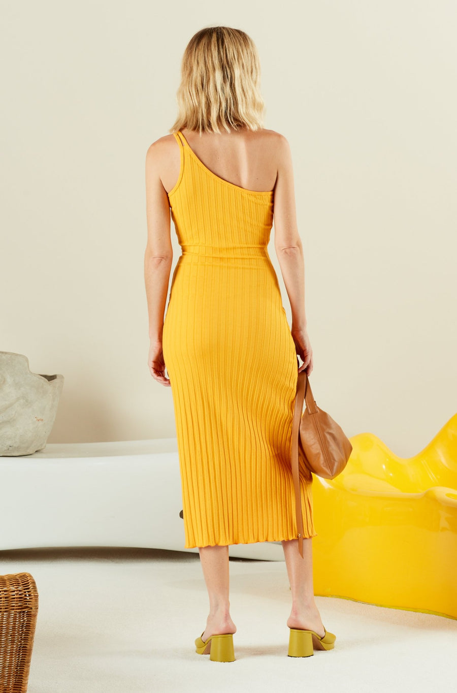 OLINE DRESS IN SUNSET ORANGE