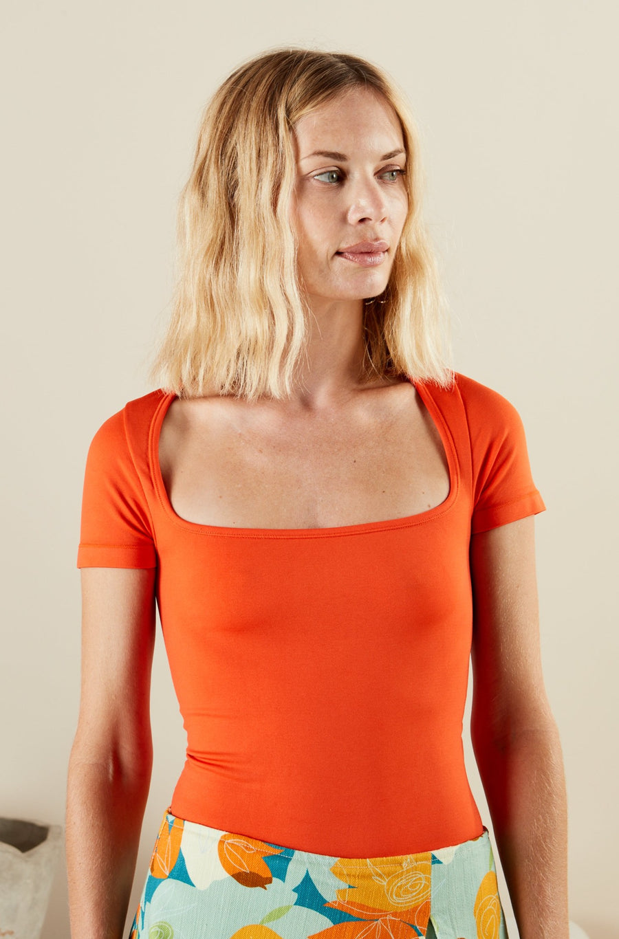 EERO BODYSUIT IN CORAL