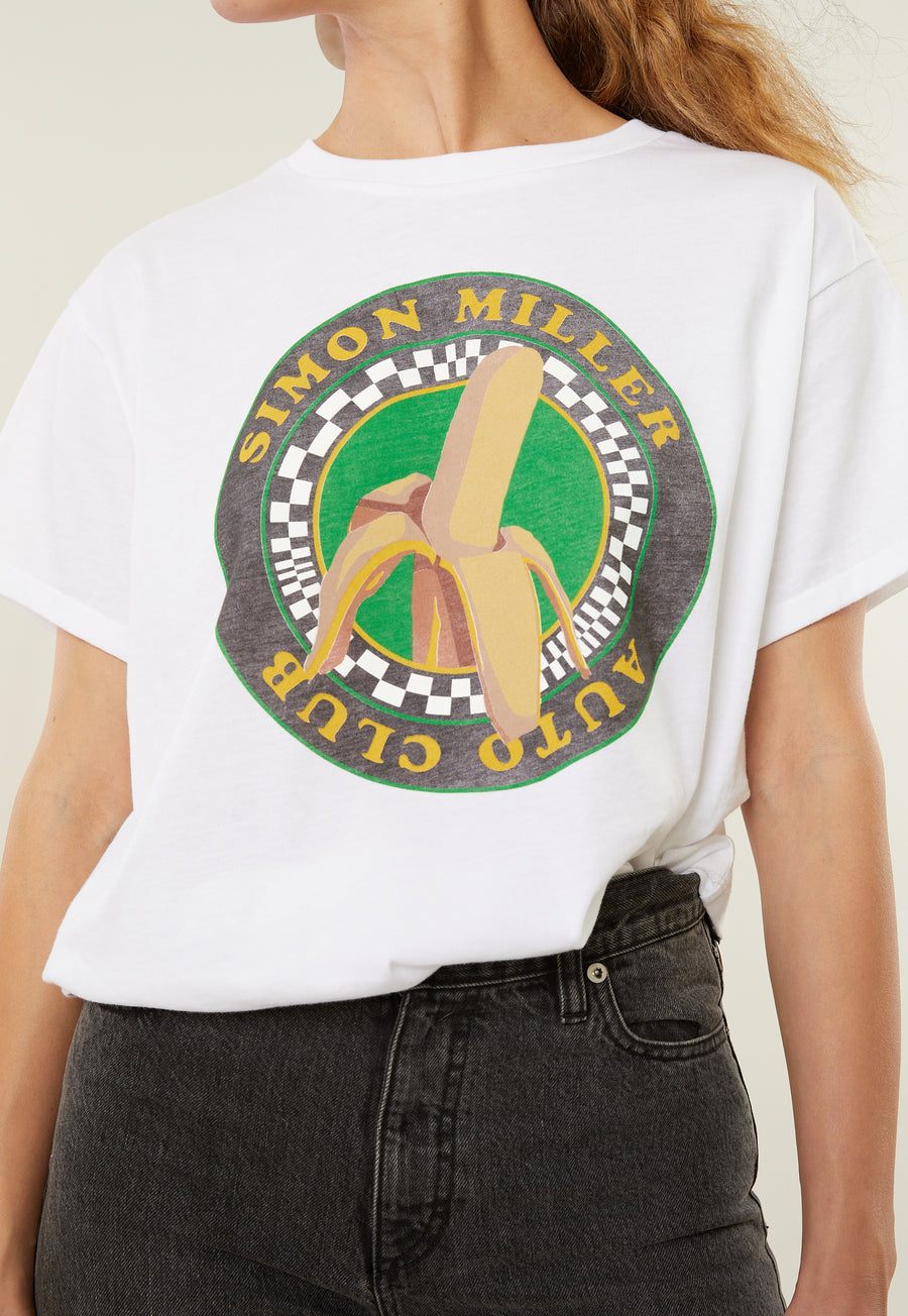 Auto Club Tee in Banana Print