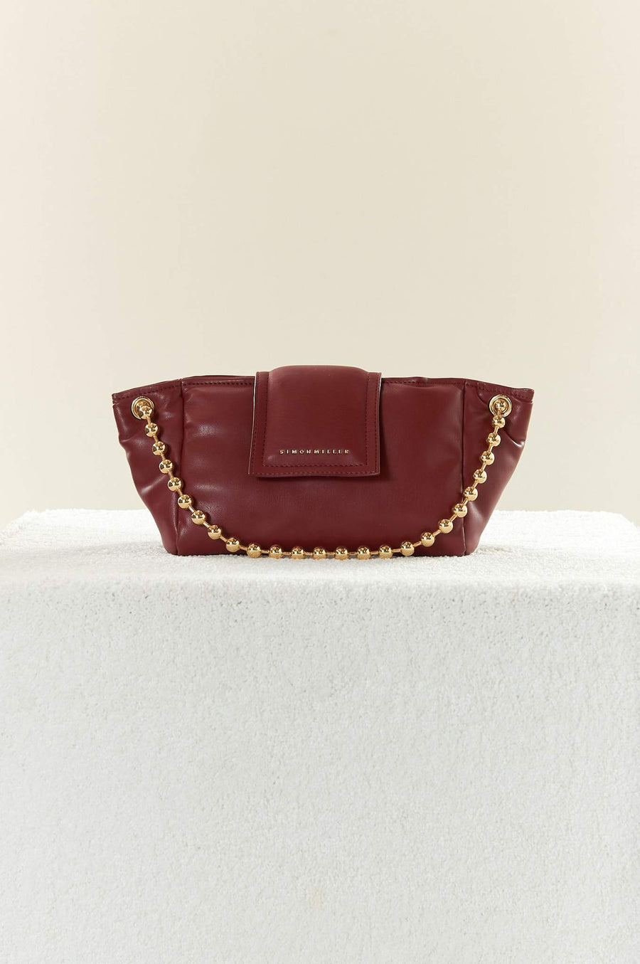 VEGAN LEATHER Dumpling Bag in Burgundy