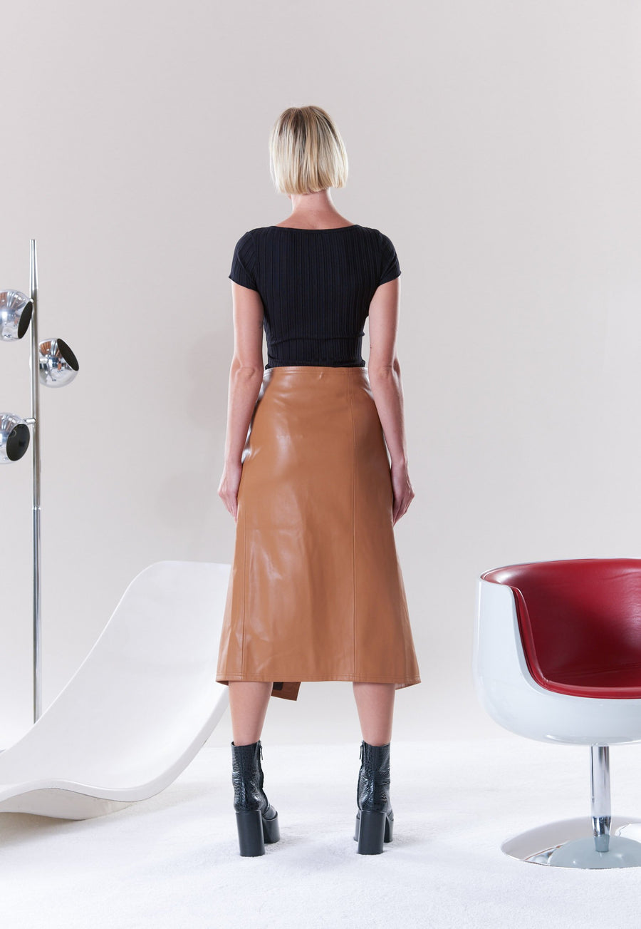 VEGAN Vega Skirt in Toffee
