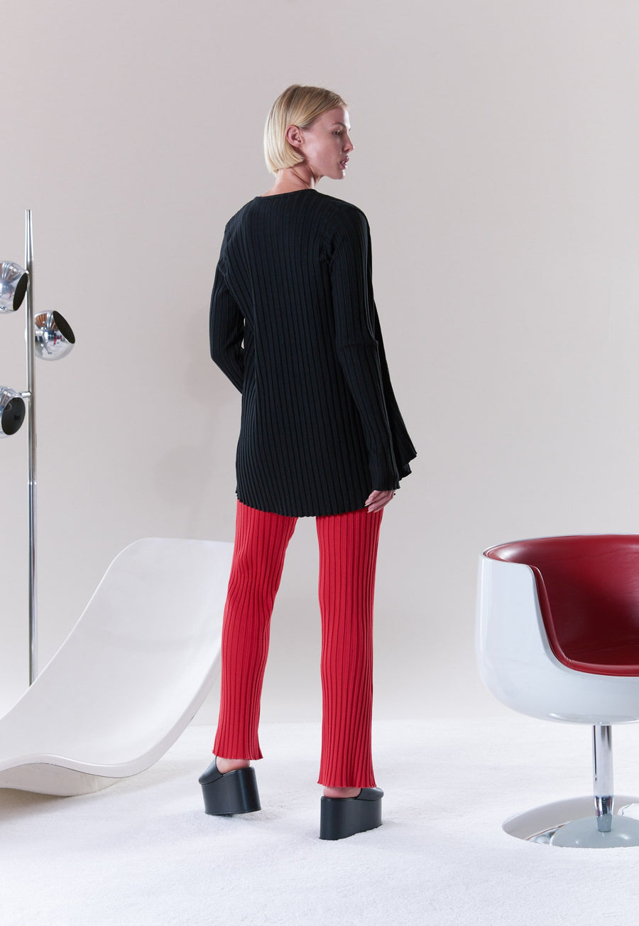 RIB Eames Cardigan in Black