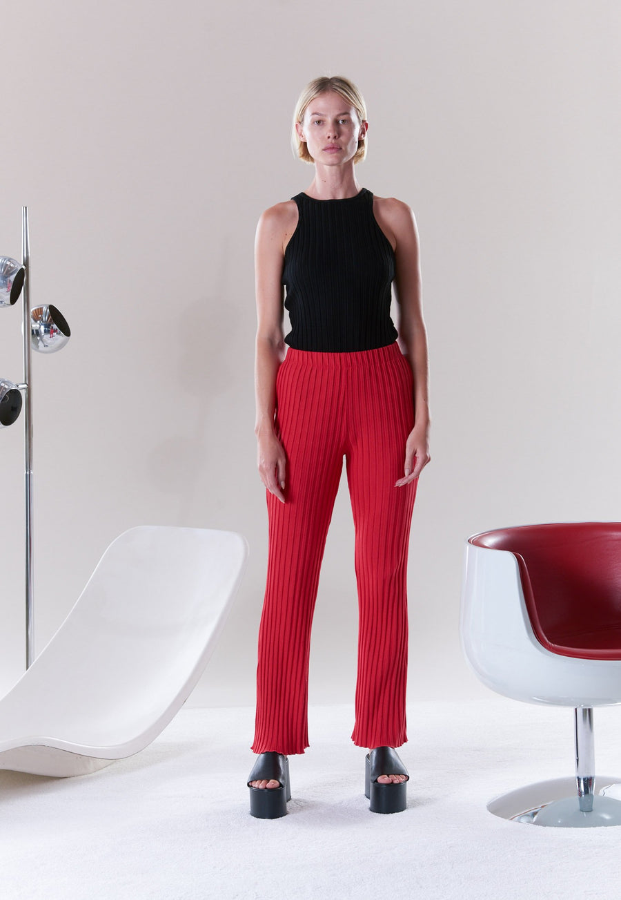 Cyrene Pant in Retro Red