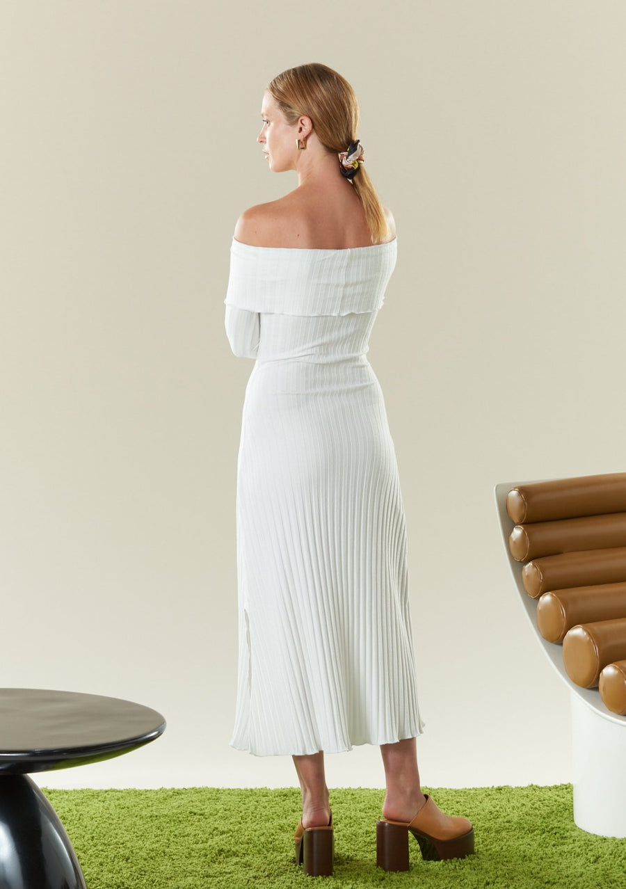 RIB Espen Dress in Macadamia