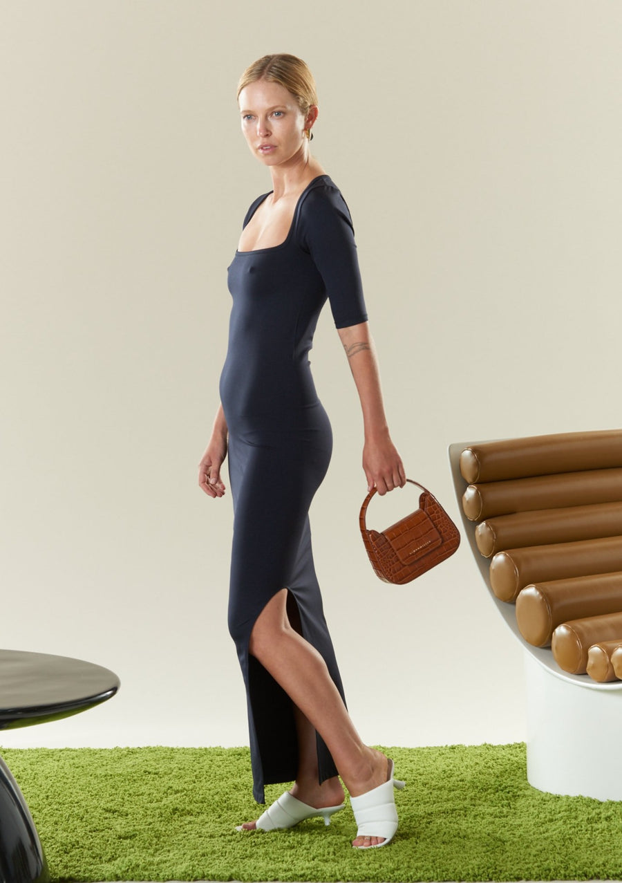 STRETCH Mies Dress in Black