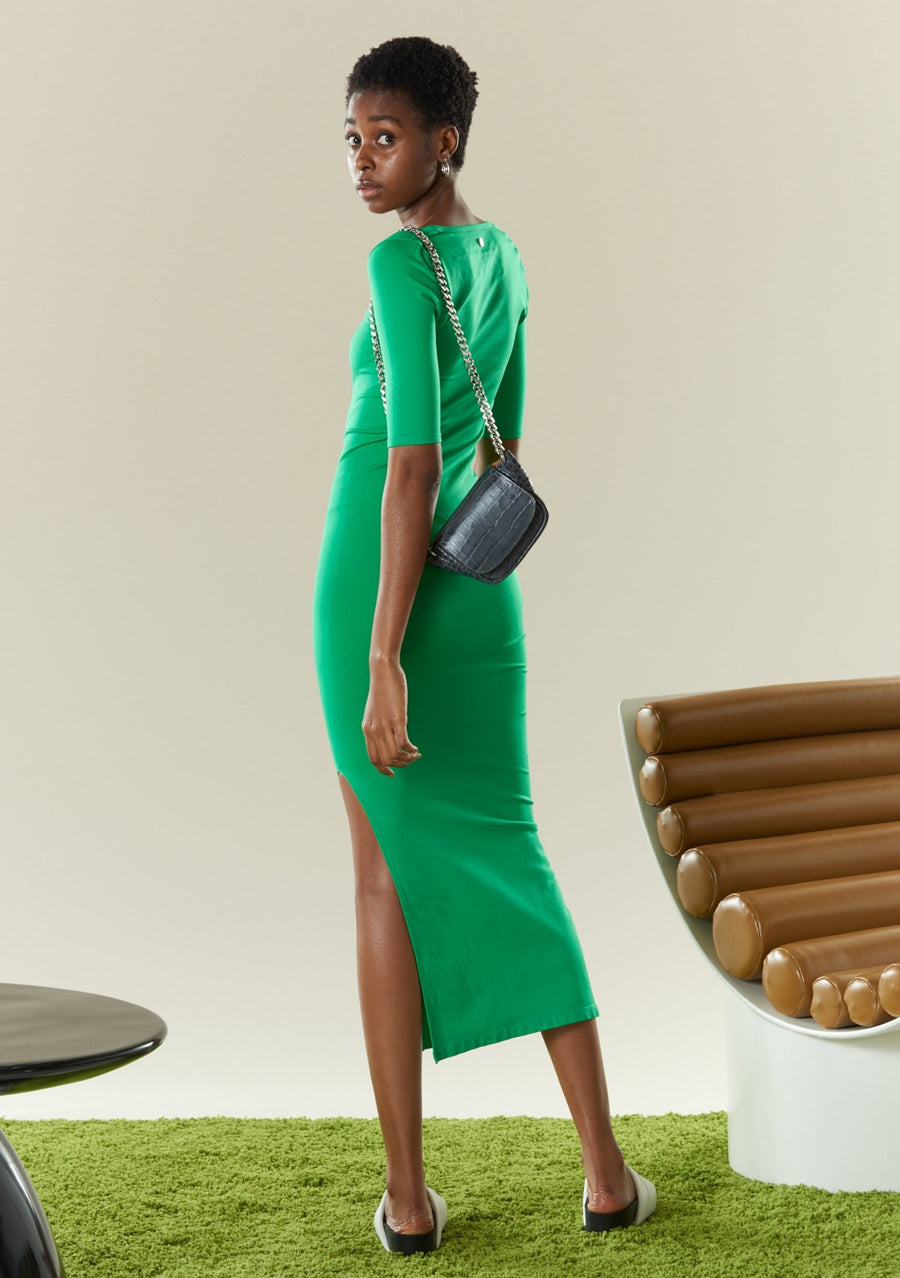 STRETCH Mies Dress in Jungle Green