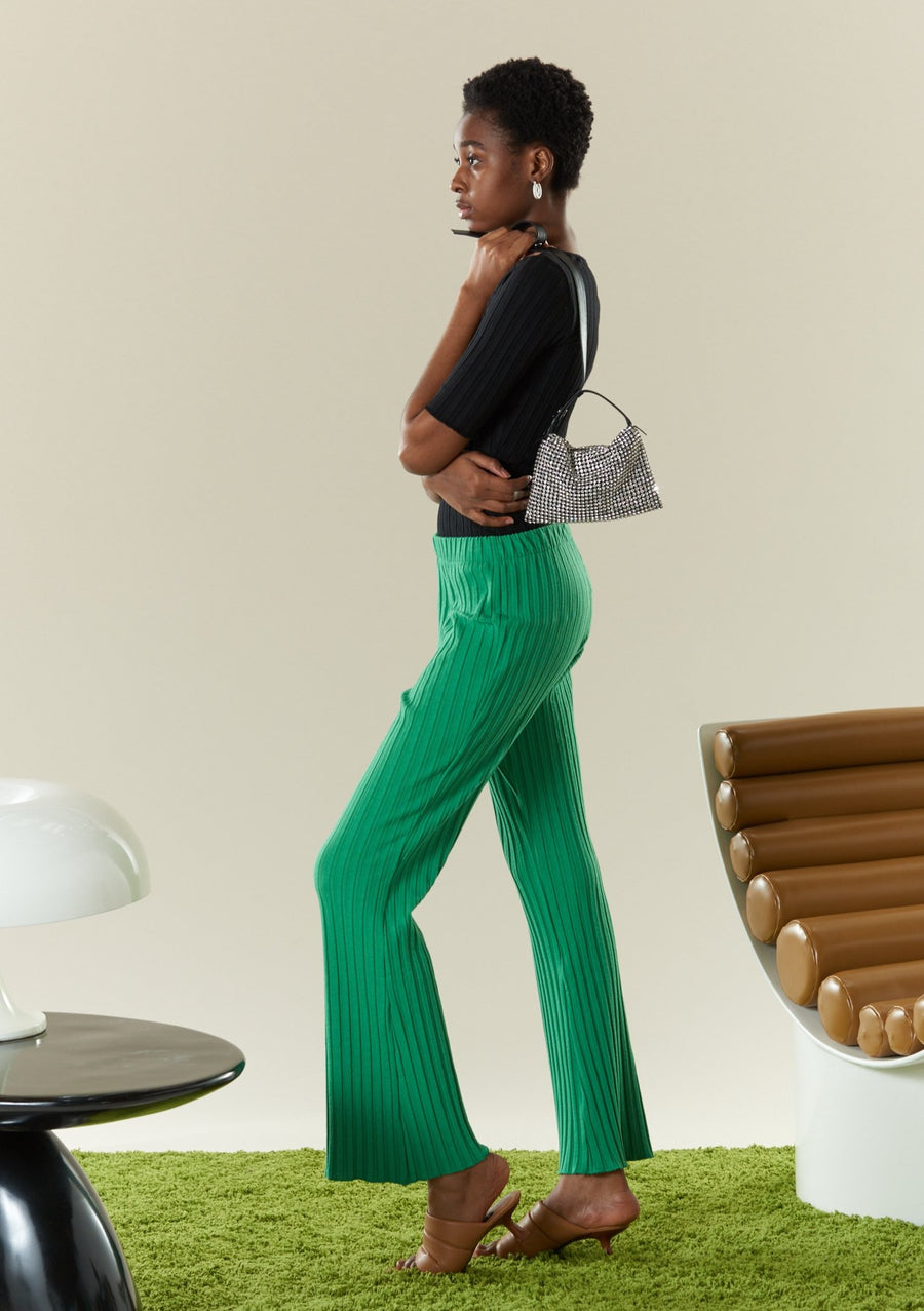 RIB Cyrene Pant in Jungle Green