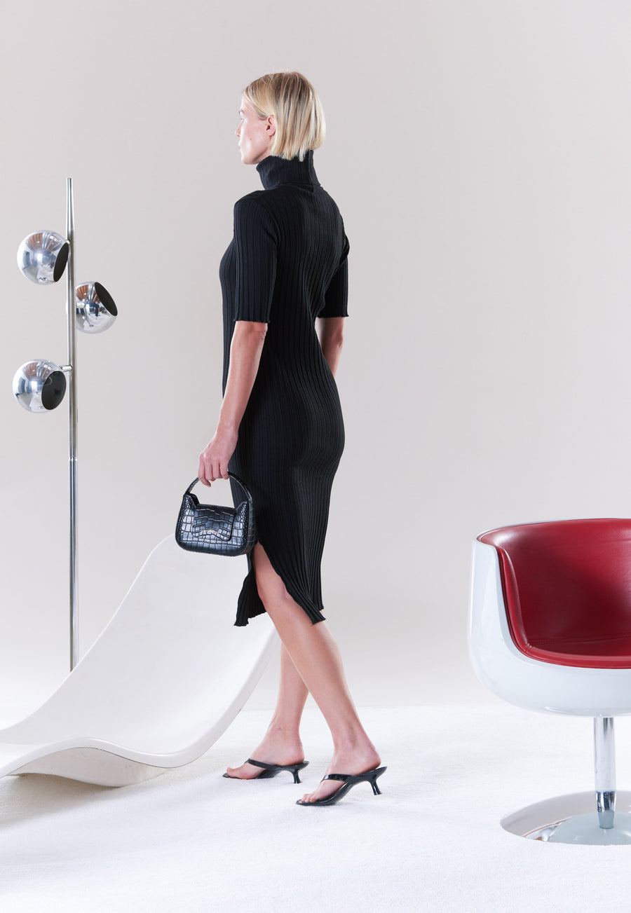RIB Novo Dress in Black