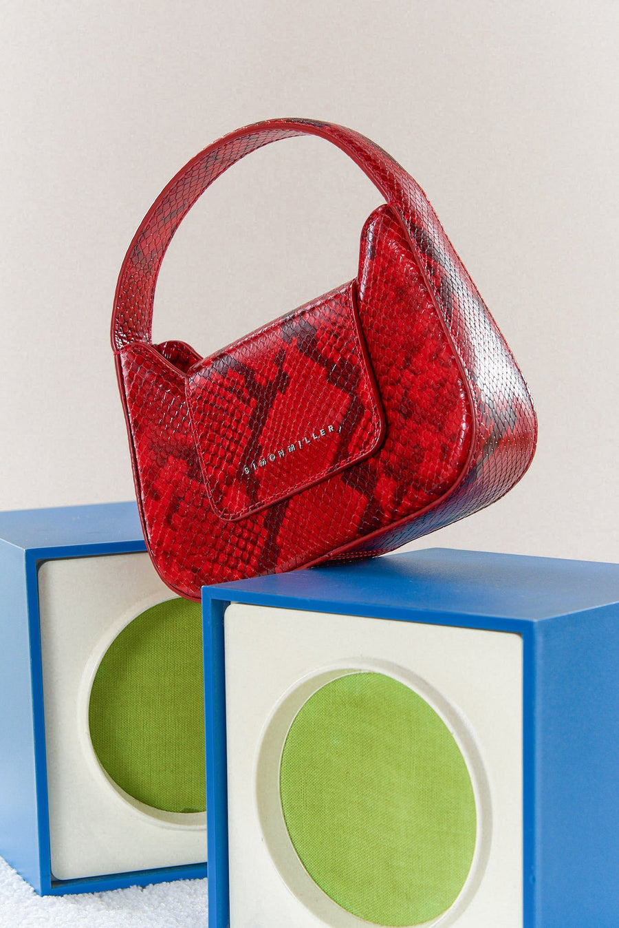 Mini Retro Bag in Tango Red