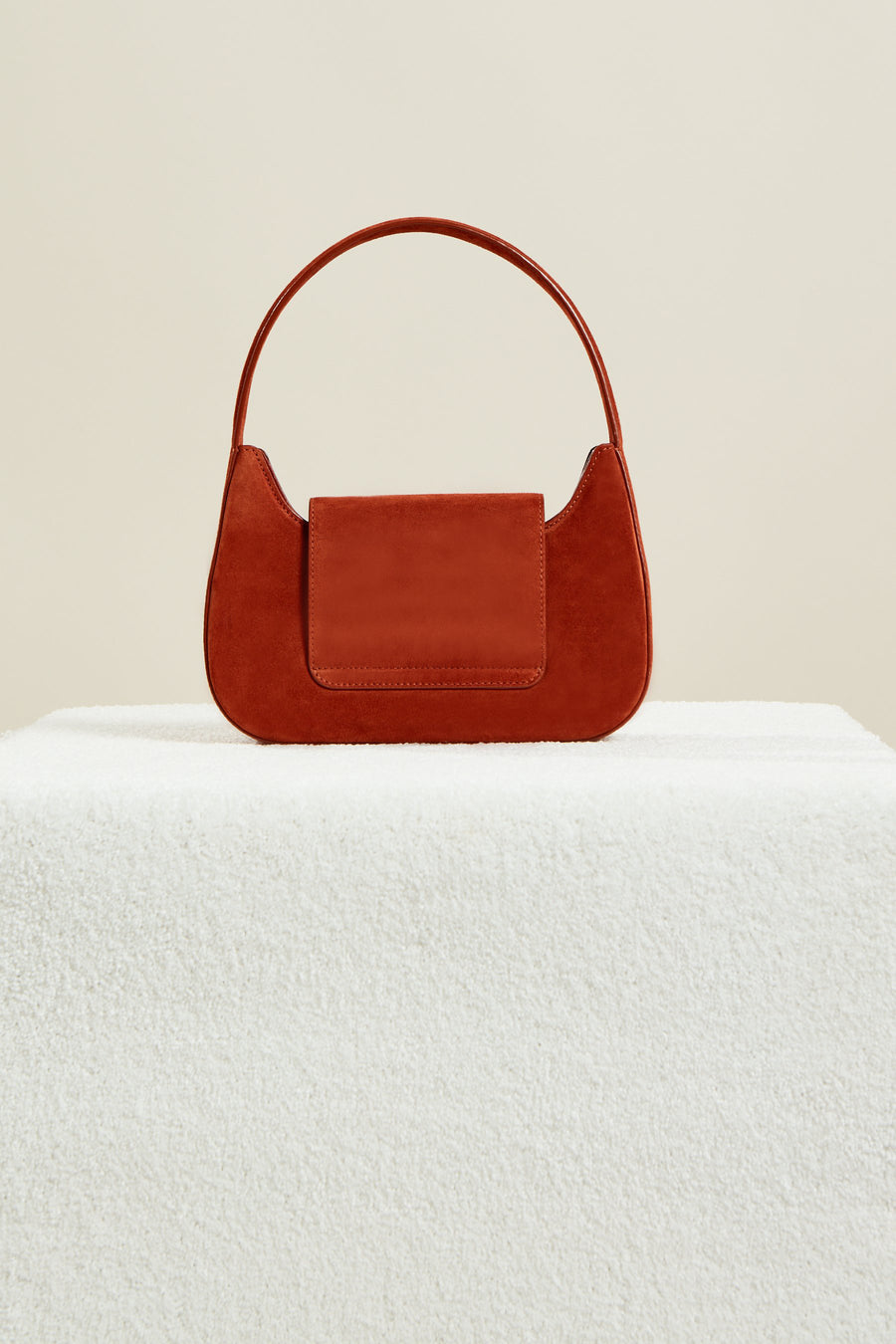 Retro Bag in Rust Suede