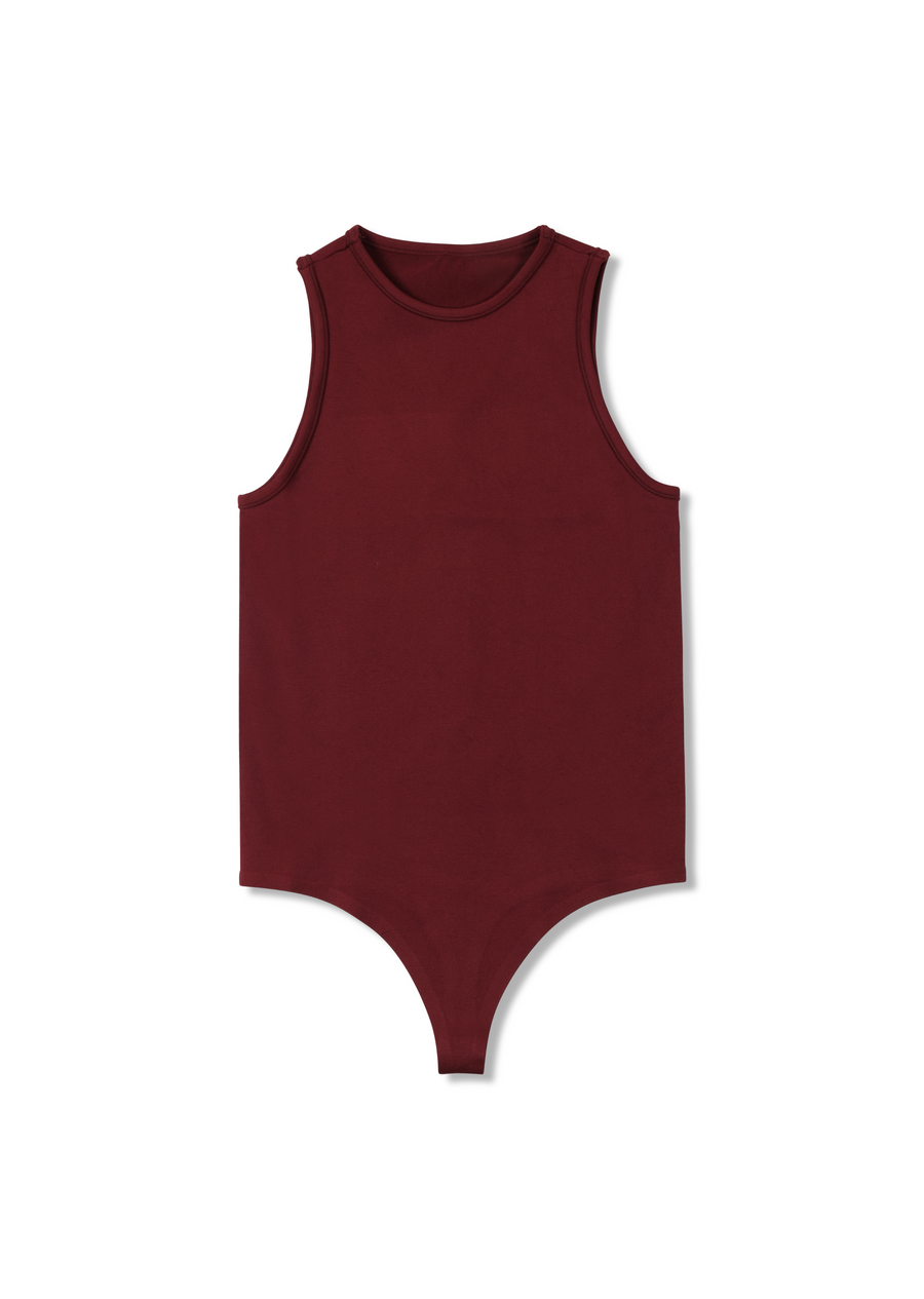 STRETCH Nash Bodysuit in Burgundy