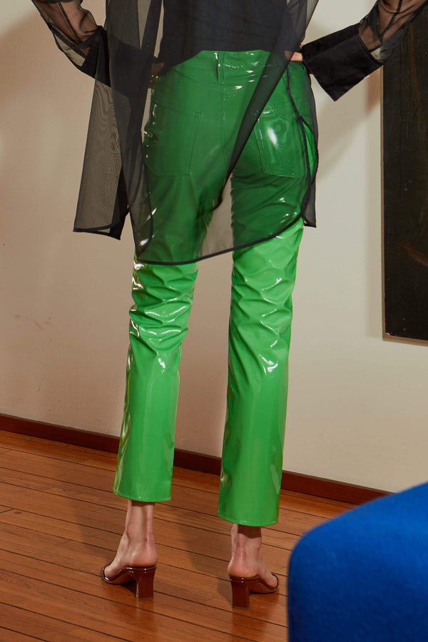 Straight Leg Pant in Algae