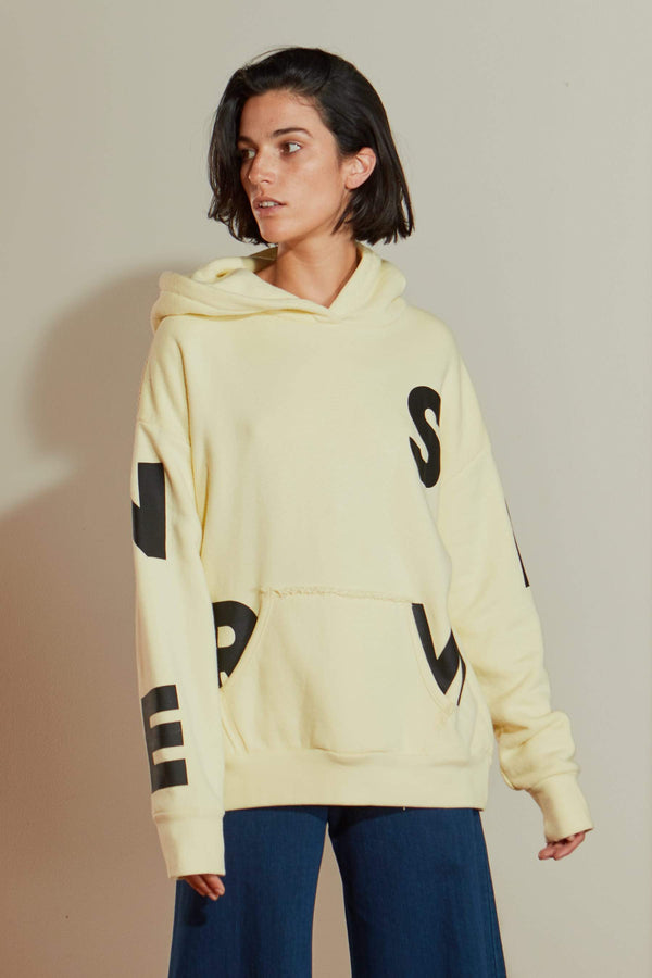 Boise Hoodie in Sea Lemon W/ Black Block Screen