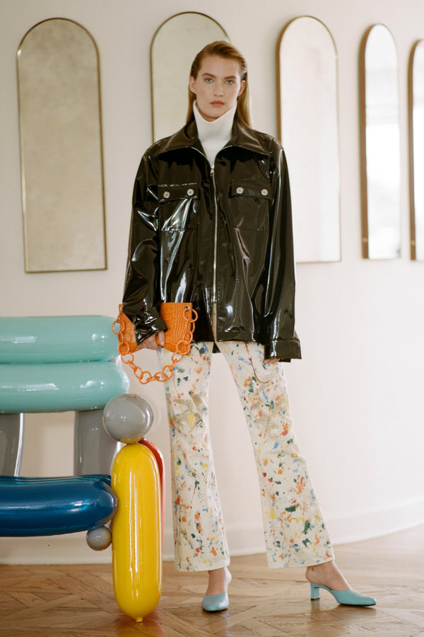 Bell Jean in White Paint Splatter