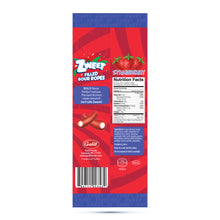 Load image into Gallery viewer, Zweet Sour Strawberry Filled Ropes 4.5oz