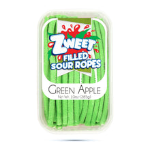 Load image into Gallery viewer, Zweet Sour Green Apple Ropes 10oz