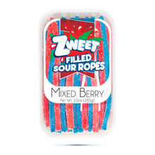 Load image into Gallery viewer, Zweet Sour Mixed Berry Ropes 10oz