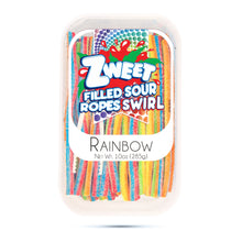 Load image into Gallery viewer, Zweet Sour Rainbow Swirl Ropes 10oz