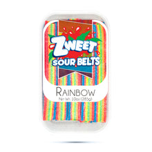 Load image into Gallery viewer, Zweet Sour Rainbow Belts 10oz