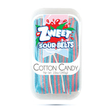 Load image into Gallery viewer, Zweet Sour Cotton Candy Belts 10oz