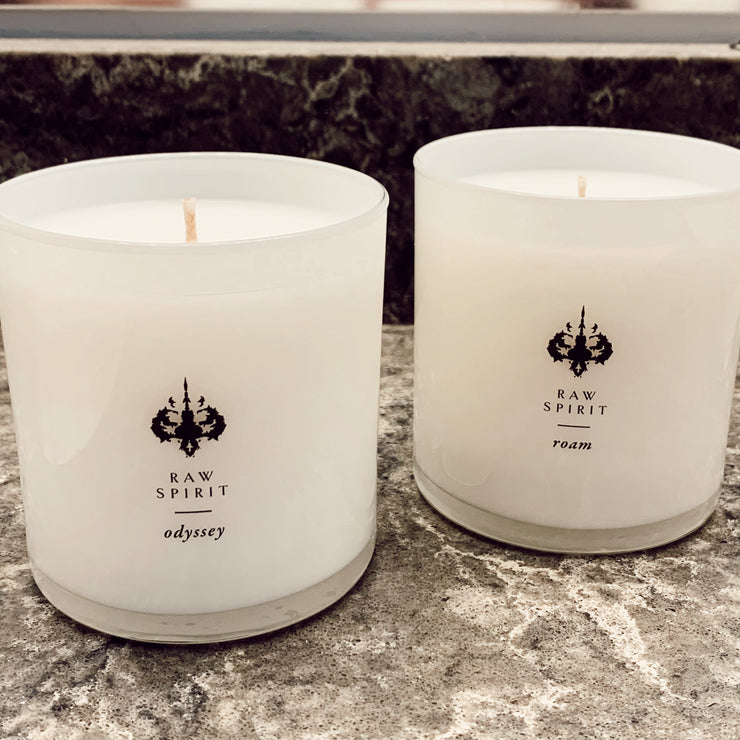 Two Candle Gift Set, Hand-Poured, 60 Hour Burn Coconut Wax 9 oz