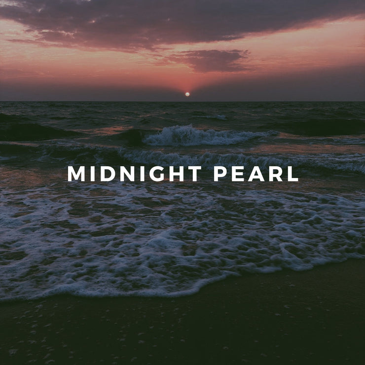 Midnight Pearl is a sultry floral scent with notes of gardenia, coconut, frangipani, clove, cinnamon, and the real essence of pearl.