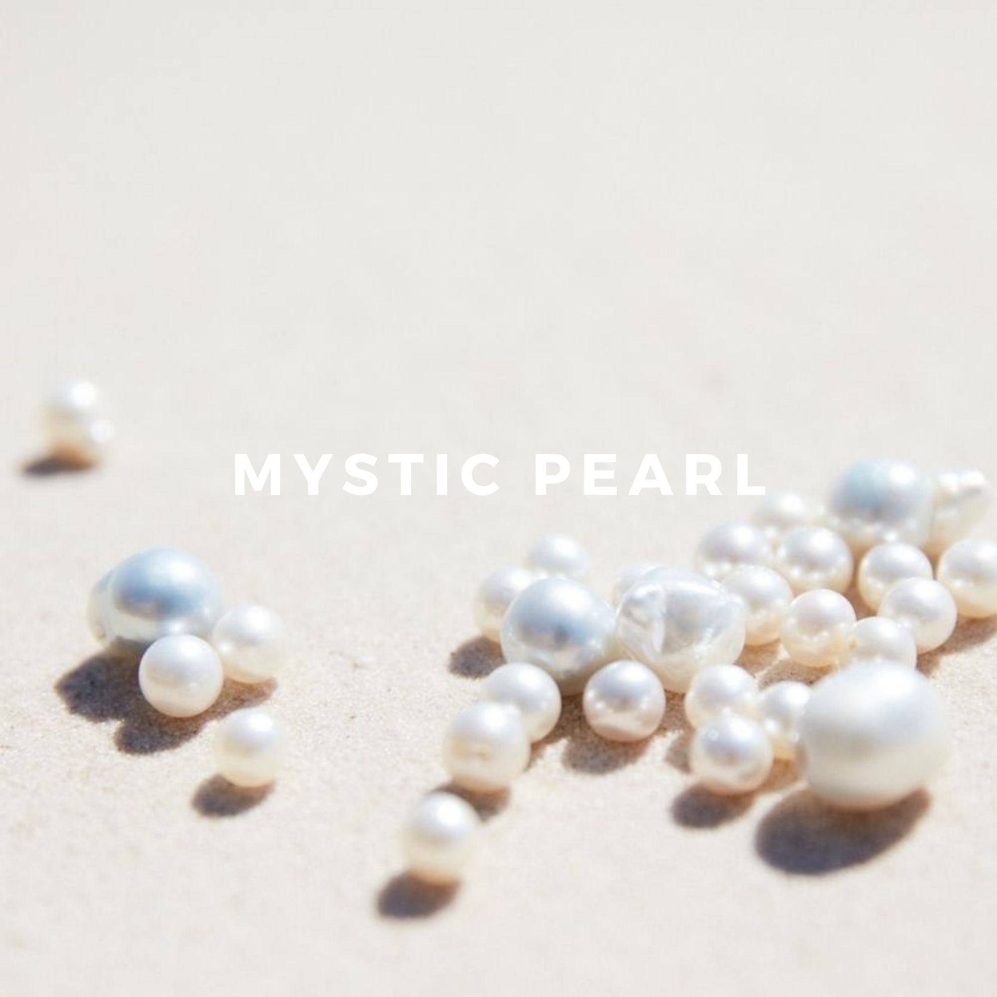 Mystic Pearl is particularly unique because we created it using the scent from real South Sea pearls, giving Mystic Pearl its opening burst of ocean freshness, drying down to notes of tropical white flowers, ylang ylang and frangipani, a touch of coconut, and a hint of warmth from tropical spices, cinnamon and nutmeg.