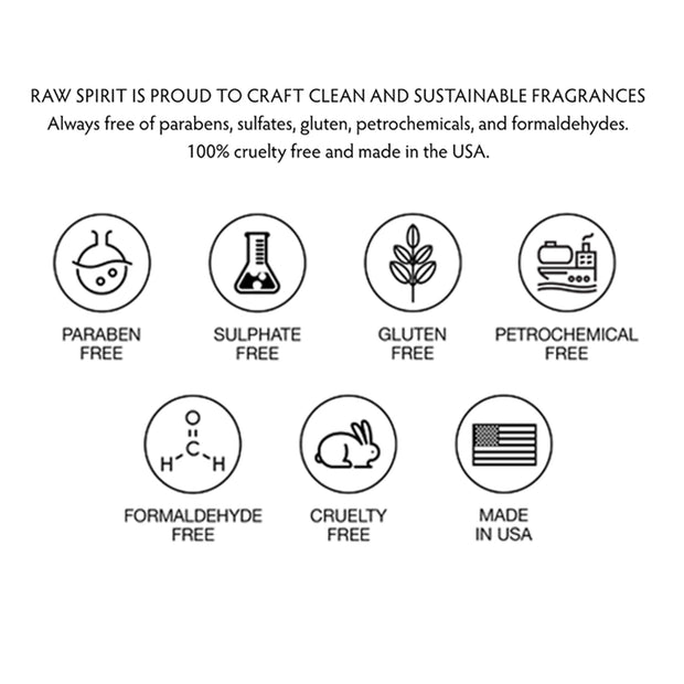 Our fragrances are created with clean and sustainable ingredients, free of parabens, sulfates, gluten, petrochemicals, and formaldehydes. Our fragrances are also 100% cruelty free! We, along with our technical and production partners, share a commitment to responsible sourcing of natural ingredients.