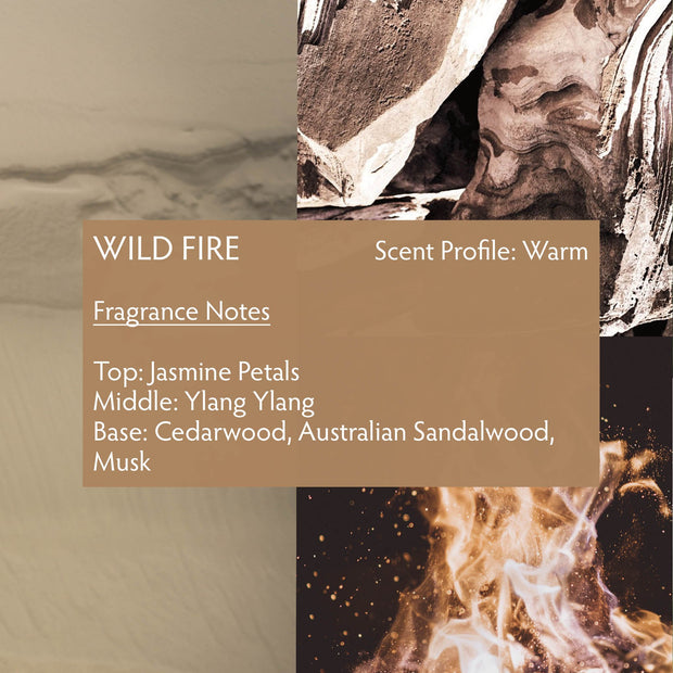 Wild Fire is a unisex fragrance with a seductive, dry blend. With wild-harvested sandalwood, creamy amber, and rich floral notes, the fragrance is overall musky and rich. If you enjoy deep and creamy yet strikingly natural scents, your next luxury fragrance is Wild Fire.