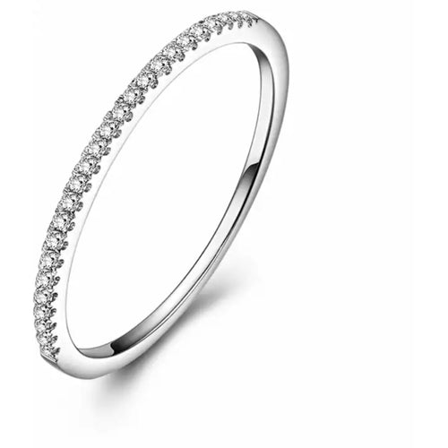 10kt White Gold and Diamond Stacker