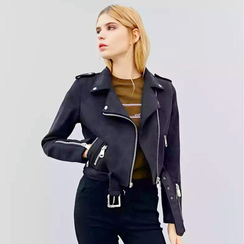 Leather Suede Motorcycle Jacket