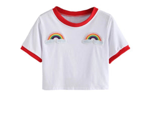 I see Rainbows Cropped Baseball Tee
