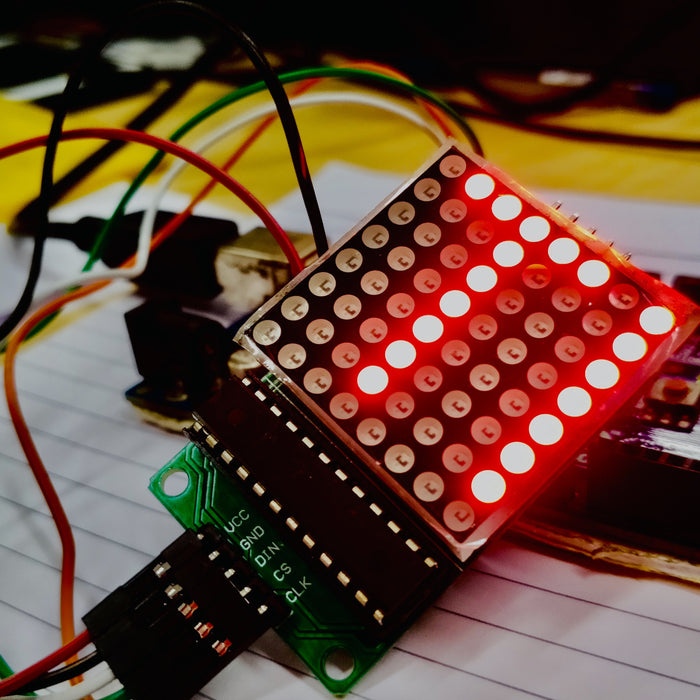 Interfacing an 8x8 Matrix with Arduino, using MAX7219