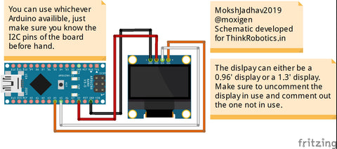 Interfacing a 128*64 OLED display with Arduino — ThinkRobotics in