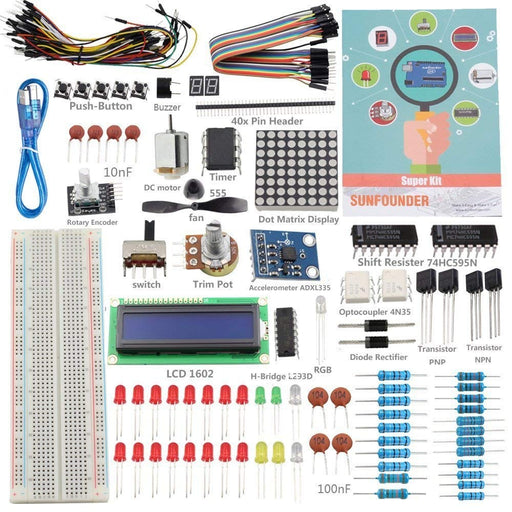 Sunfounder Super Kit for Arduino - Arduino Mega - ThinkRobotics.in