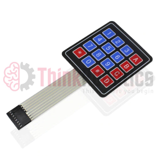 Membrane 4X4 Matrix Keypad + Extras - ThinkRobotics.in