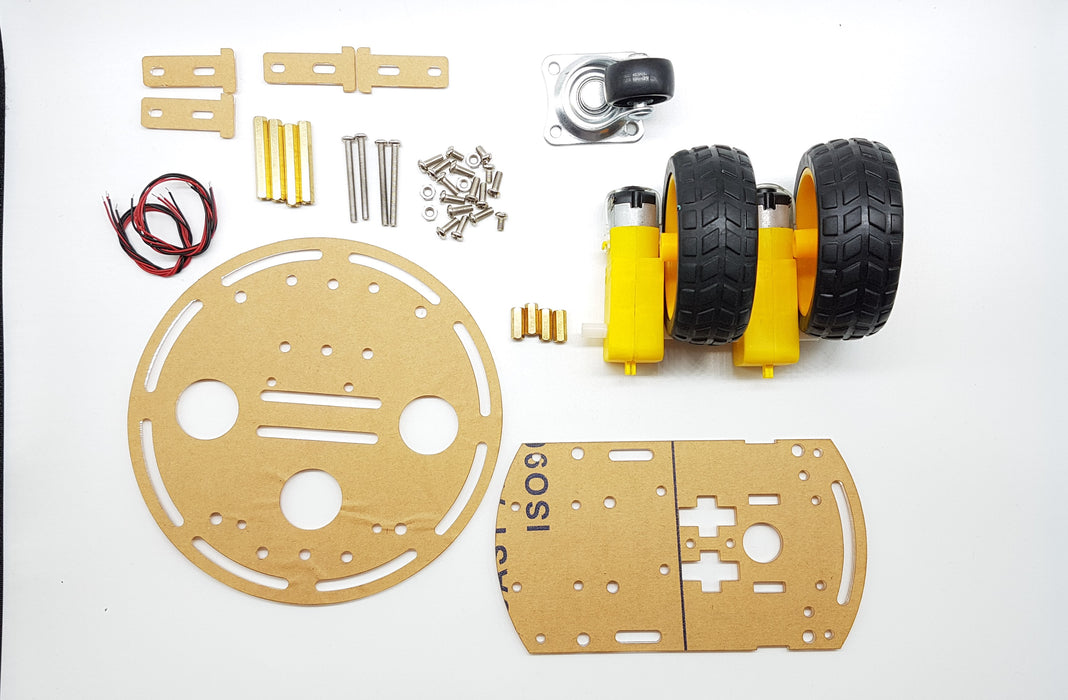 2-Wheel Drive Smart Car DIY Kit - ThinkRobotics.in
