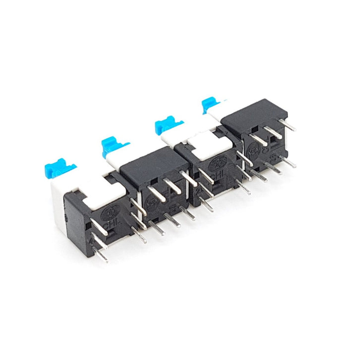 8X8 mm Cap Self Lock Button Switch Pack of 5 - ThinkRobotics.in