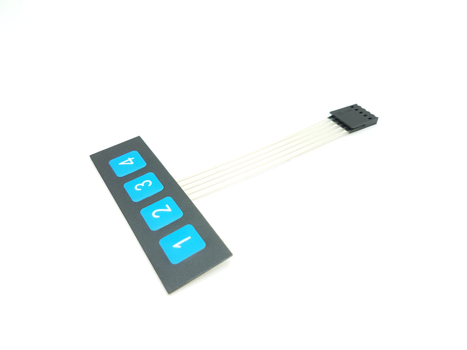 1x4 Key Matrix Membrane Keypad - ThinkRobotics.in