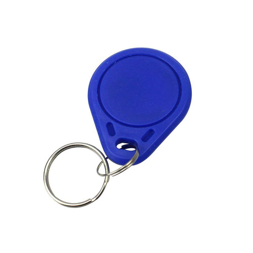 The storage capacity  of 13.56MHz RFID IC key tags key fobs is 8 Kbit, 16 partitions, each partition with 2 background passwords and operating frequency :13.56MHz.